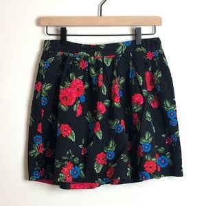 Forever 21 Floral Quilted Mini Skirt - Size Medium